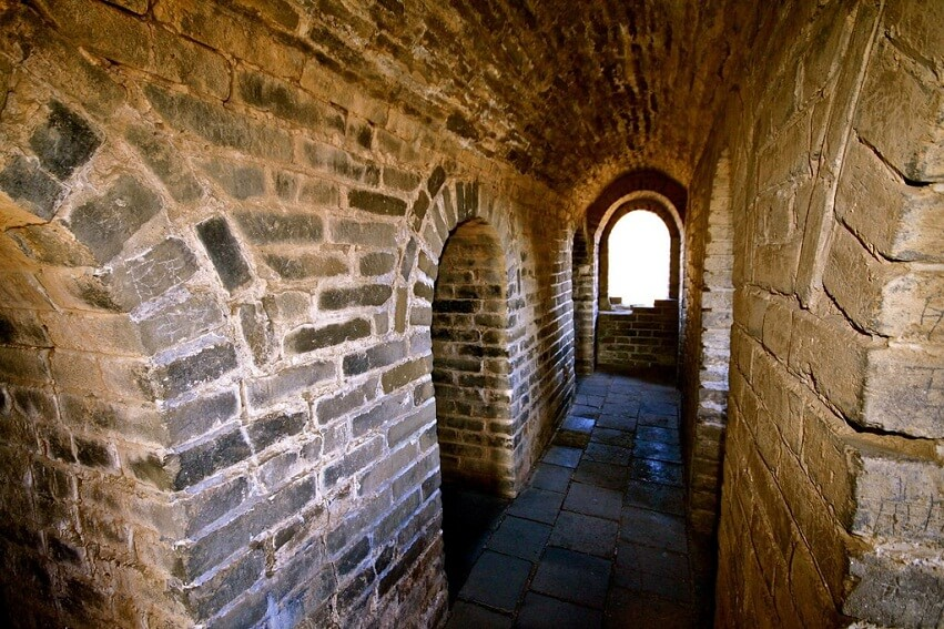 Inside the tower walls