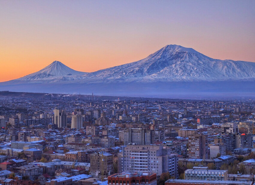 Night view of Mount Ararat
