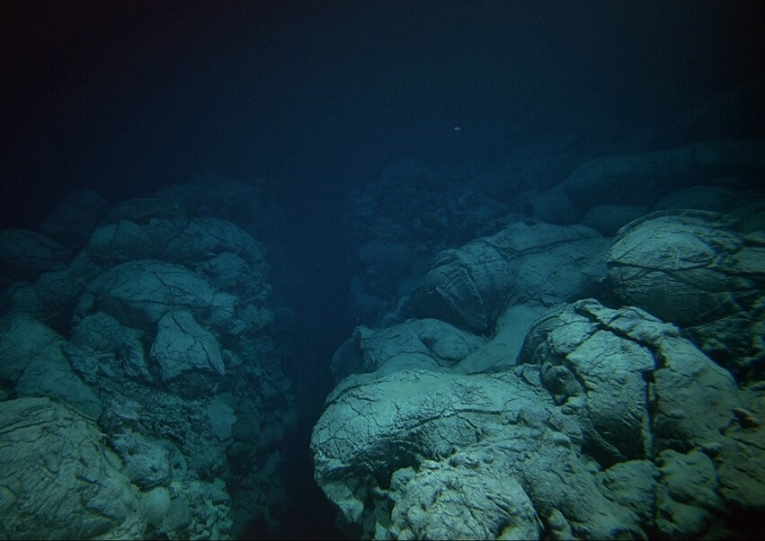 The surface of the Mariana Trench