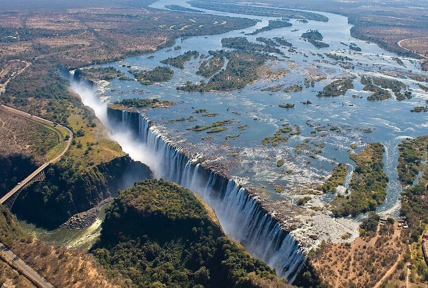 Top view of the Victoria Falls